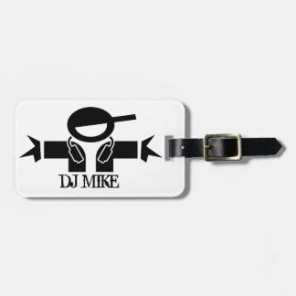 名前入りなDJの荷物のラベル| DJは連動になります ラゲッジタグ