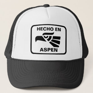 名前入りなHecho enの《植物》アスペンのpersonalizadoのカスタム キャップ