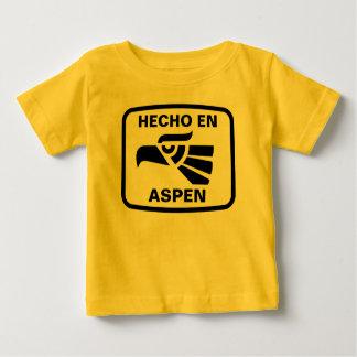 名前入りなHecho enの《植物》アスペンのpersonalizadoのカスタム ベビーTシャツ
