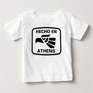 名前入りなHecho enアテネのpersonalizadoのカスタム ベビーTシャツ