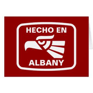 名前入りなHecho enアルバニーのpersonalizadoのカスタム カード