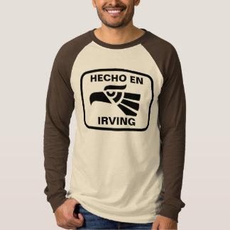 名前入りなHecho enアービングのpersonalizadoのカスタム Tシャツ