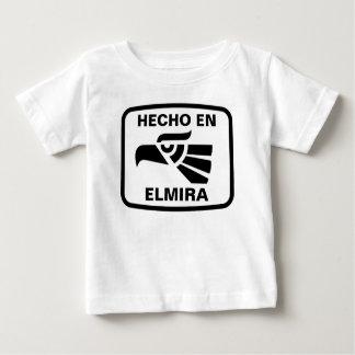 名前入りなHecho enエルマイラのpersonalizadoのカスタム ベビーTシャツ