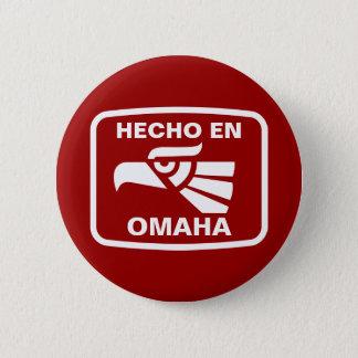 名前入りなHecho enオマハのpersonalizadoのカスタム 5.7cm 丸型バッジ