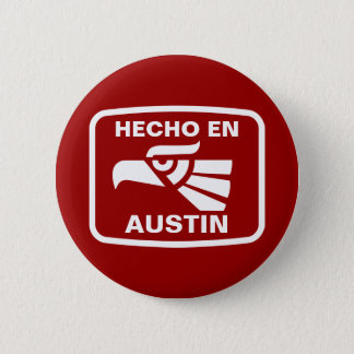 名前入りなHecho enオースティンのpersonalizadoのカスタム 5.7cm 丸型バッジ