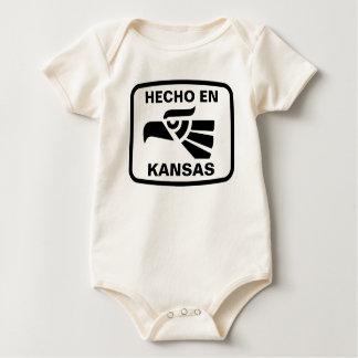名前入りなHecho enカンザスのpersonalizadoのカスタム ベビーボディスーツ