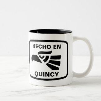 名前入りなHecho enクインシーのpersonalizadoのカスタム ツートーンマグカップ