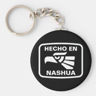 名前入りなHecho enナシュアのpersonalizadoのカスタム キーホルダー