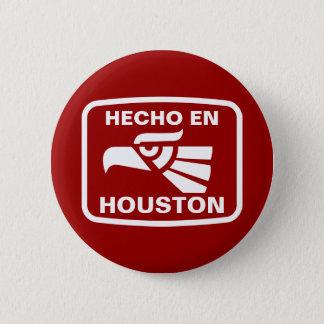名前入りなHecho enヒューストンのpersonalizadoのカスタム 5.7cm 丸型バッジ