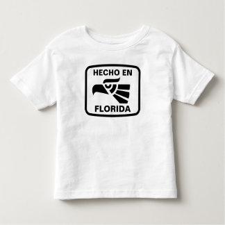 名前入りなHecho enフロリダのpersonalizadoのカスタム トドラーTシャツ