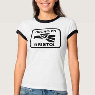名前入りなHecho enブリストルのpersonalizadoのカスタム Tシャツ