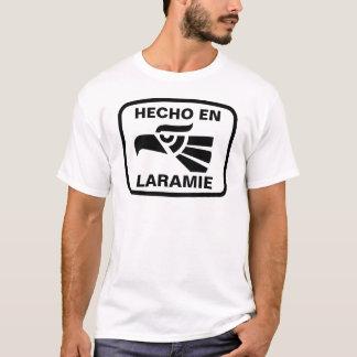 名前入りなHecho en Laramieのpersonalizadoのカスタム Tシャツ