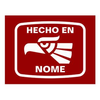 名前入りなHecho en Nomeのpersonalizadoのカスタム ポストカード