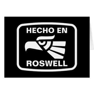 名前入りなHecho en Roswellのpersonalizadoのカスタム カード
