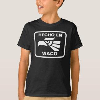 名前入りなHecho en Wacoのpersonalizadoのカスタム Tシャツ