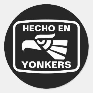 名前入りなHecho en Yonkersのpersonalizadoのカスタム ラウンドシール