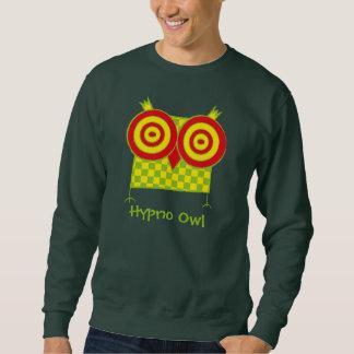 名前入りなHypnoのフクロウのスエットシャツ スウェットシャツ