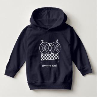 名前入りなHypnoのフクロウの幼児のプルオーバーのフード付きスウェットシャツ パーカ