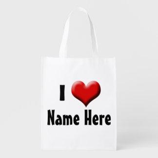 名前入りなI愛… 一流のバレンタインデー エコバッグ