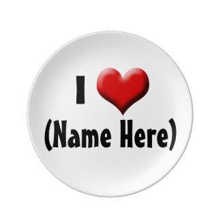 名前入りなI愛… 一流のバレンタインデー 磁器プレート