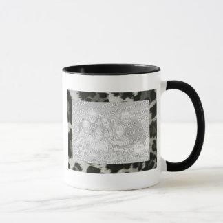 名前入りなInstagramの2つの写真フレームのアニマルプリント マグカップ