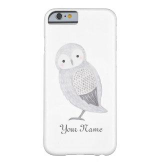名前入りなiPhoneの場合のカスタムでかわいいフクロウのiPhone Barely There iPhone 6 ケース