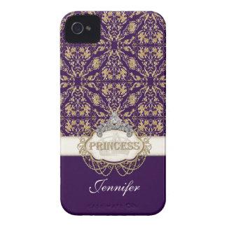 名前入りなIPhone 4のプリンセスの宝石のきらきら光るな王冠 Case-Mate iPhone 4 ケース