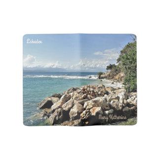 名前入りなLabadieの景色の海岸線 ラージMoleskineノートブック