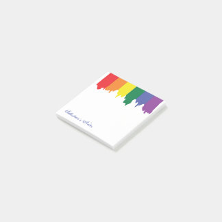 名前入りなLGBTゲイプライドの虹のペンキ ポストイット