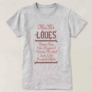 名前入りなMiMi愛彼女の孫 Tシャツ
