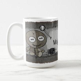 名前入りなMOJOゴシック様式ブードゥーの人形 コーヒーマグカップ