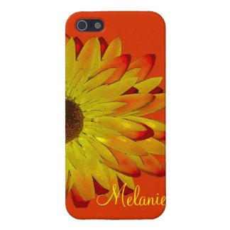 名前入りなSundazeの黄色い花 iPhone 5 Cover