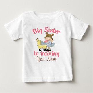 名前入りなTシャツの訓練の姉 ベビーTシャツ