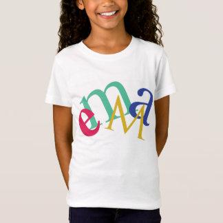 """名前入りなTシャツ、""""エマ"""" Tシャツ"""