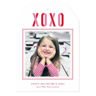 名前入りなXOXOのバレンタインデーの写真カード カード