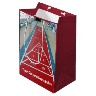 名前入りの上のShuffleboard ミディアムペーパーバッグ