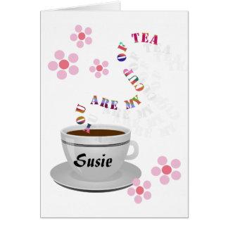 名前入りメッセージカード私のお茶です カード