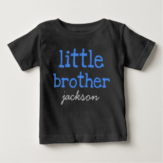 名前入り一流の青い文字の弟を加えて下さい ベビーTシャツ