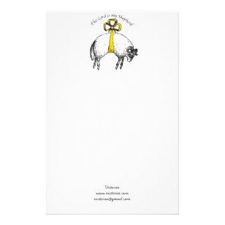 名前入り主は私の羊飼いの賛美歌23です 便箋