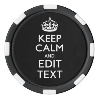 名前入り平静を保ち、あなたの文字を編集して下さい ポーカーチップ