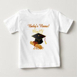 名前入り白いクラス年の幼児Tシャツ ベビーTシャツ