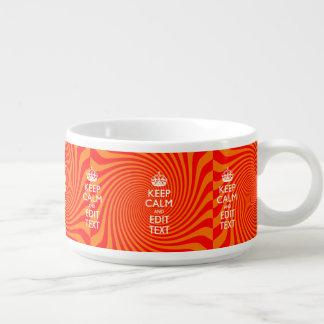 名前入り穏やか保ち、文字のオレンジ渦巻を編集して下さい チリボウル