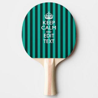 名前入り穏やか縞で飾りますターコイズで保って下さい 卓球ラケット