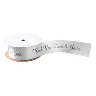 名前入り結婚式の引き出物のリボンありがとう サテンリボン