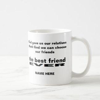 名前入り親友の白いマグ コーヒーマグカップ