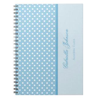 名前入り: 水玉模様のノート ノートブック