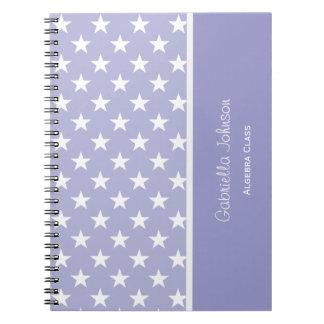 名前入り: 白の紫色はノートを主演します ノートブック