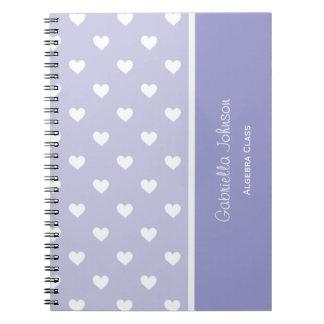 名前入り: 紫色の恋人のノート ノートブック