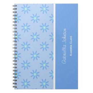 名前入り: 青デイジーのノート ノートブック