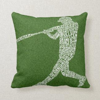名前及び数カスタムなソフトボールの野球の枕 クッション